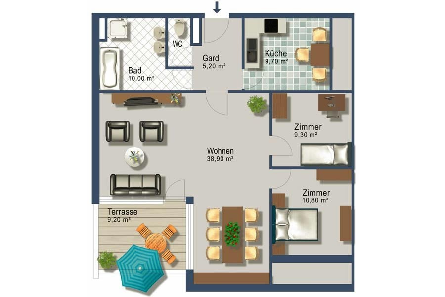 4 room apartment  real estate for sale 4-room apartment on walking distance to the ...