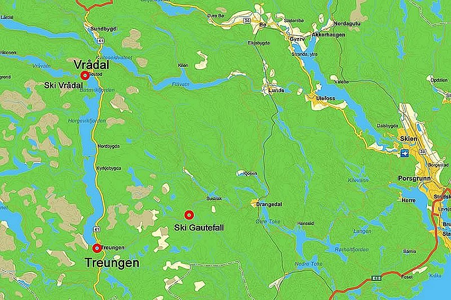 21 For Sale Wooden Cottage In Treungen Norway on telemark map location